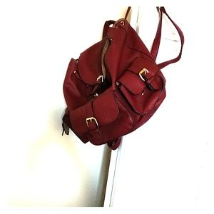 JustFab Bags   Burgundy Backpack From Shoe Dazzle   Poshmark 8df3cc3ae1